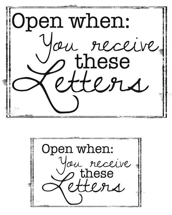 open when you receive these letters