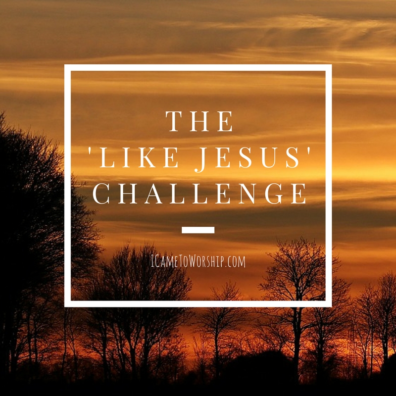 the like jesus challenge, attitude, heart