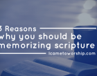 memorizing scripture
